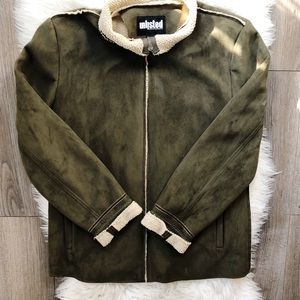 UNLISTED Kenneth Cole faux suede jacket